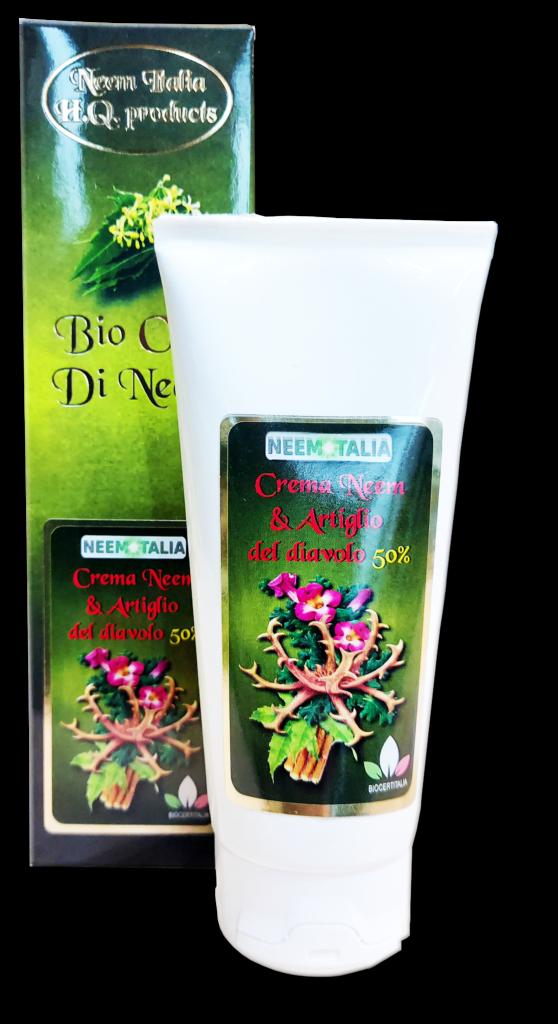 Crema neem e artiglio del diavolo