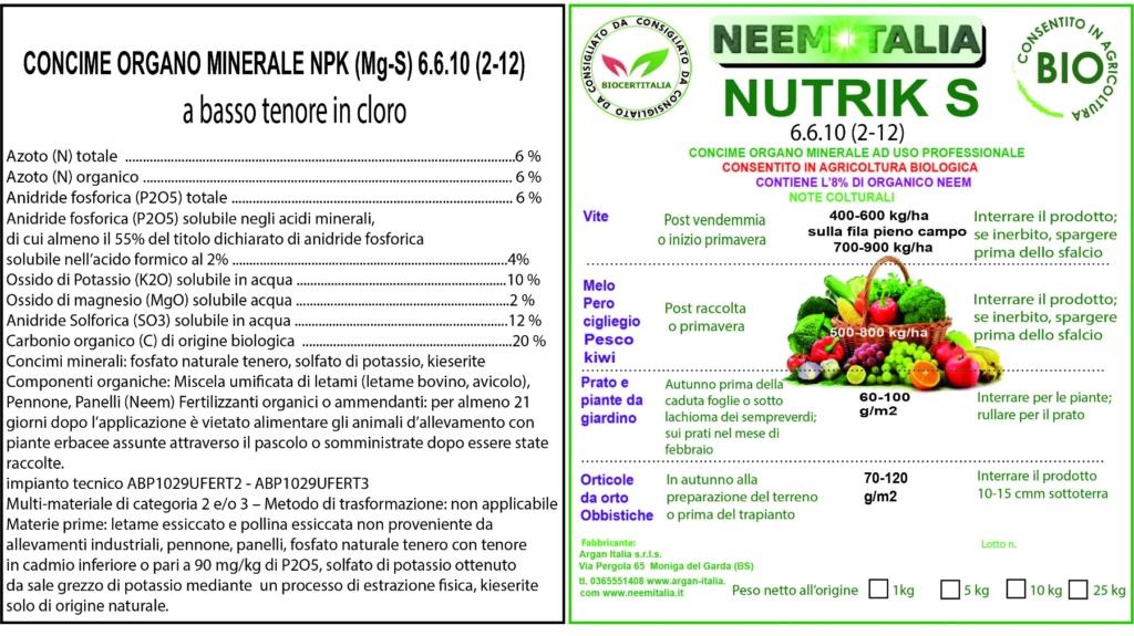 Etichetta Nutrik S